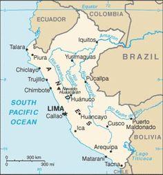 Peru. 29.5 Million People. Capital is Lima.