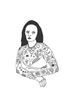Madonna, Mona Lisa, Darth Vader, Fictional Characters, Tattoos, Amor, Tatuajes, Tattoo, Fantasy Characters