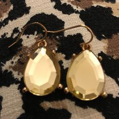 Gold/cream earrings. :) Jewelry Earrings