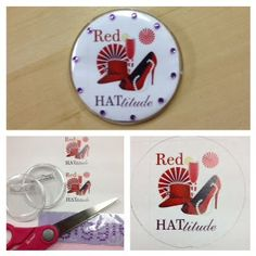 The Red Hat Society: Buttons For Everyone!