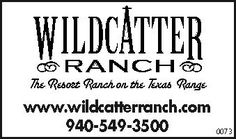 """The Resort Ranch on the Texas Range""    www.wildcatterranch.com 
