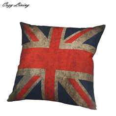 Pillow Cases 45*45CM National Flag Printed Pillow Cases Linen Cotton Soft Pillow Covers Square Pillowcases Wholesales D20 #Affiliate