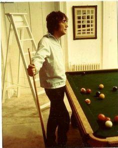 John Lennon playing pool