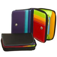 Mywalit - Small Leather Wallet with Zipround Purse