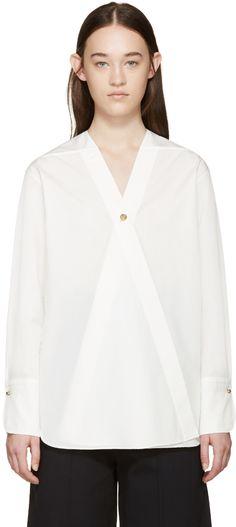 Lemaire - White Poplin Wrap Shirt