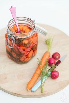 ingemaakte wortel en radijn