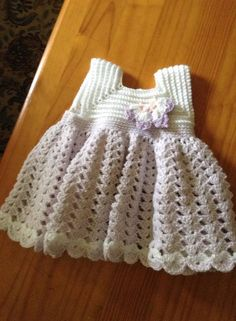 Adorable Crocheted Baby Dress | FaveCrafts.com