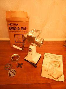 Rival Grind-O-Mat Meat Grinder Food Chopper Hand Crank Processor #303 w/ box | eBay