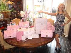 Me with my whole Pink Collection of samples! Coming soon! Be Patient with us, as it wil be well worth the wait!