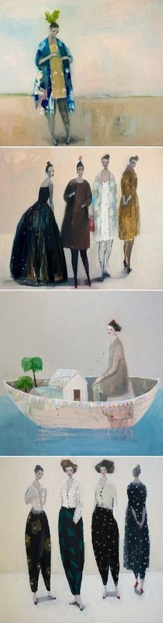 I'm sharing the work of Kristin Vestgård. Again! Find more of her magical paintings on the blog today.