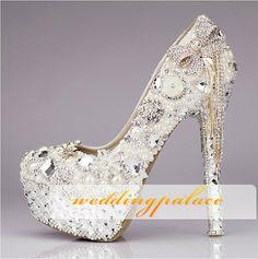 Hermoso y único para de zapatos de novia