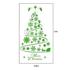 Ventana del árbol clásico de Navidad abstracto Pegatinas 2016 - €14.98