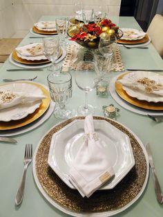 Branco e dourado na minha mesa de Natal | Blog da Michelle Mayrink