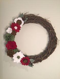 A personal favorite from my Etsy shop https://www.etsy.com/listing/569119851/christmas-wreath-christmas-felt-wreath