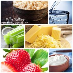 Healthy Diet = Healthy Teeth!  These super foods are awesome for your teeth. Which ones do you love? 1. #Quinoa. If you haven't tried this super food, you need to! 2. #Water. 3. #Celery. The natural structure of celery breaks down into fibrous strands that are clean teeth while you eat. 4. #Cheese. A dental powerhouse.  5. #Strawberries. This super food not only tastes great, but strawberries also contain malic acid.  6. Greek yogurt. Unsweetened  #greekyogurt  is incredibly good for your…