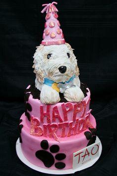 cute doggie birthday cake
