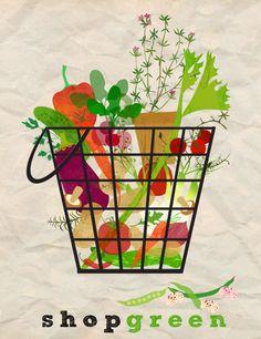 shop green.  LOVE this illustrator!