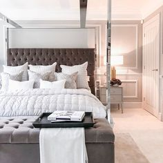bedroom goals I cant quite believe Im writing this but this is our bedroom, and its everything we ever wanted and more! A few weeks ago Sarah Contemporary Bedroom, Modern Bedroom, Master Bedroom, Bedroom Romantic, Bedroom Neutral, Bedroom Rustic, Bedroom Wardrobe, Bedroom Vintage, Minimalist Bedroom