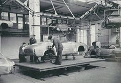c.1960 VOLKSWAGEN KARMANN GHIA PRODUCTION LINE - Wilhelm Karmann GmbH, Osnabück, Germany.