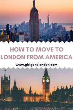 For anyone wondering how to move from America to London or how to move from America to England to follow your dreams, here are some things you really need to know. Best Countries In Europe, Uk Tourism, England Beaches, Holidays In England, Moving To England, Visit Uk, London Night, London Attractions, Maldives Travel
