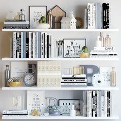 Black and white decor set