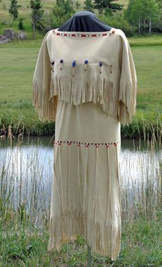 Buckskin Dresses...omgoodness. How gorgeous!                                                                                                                                                      More