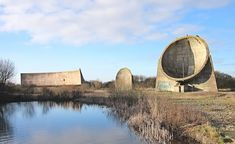 The sound mirrors at Greatstone, February 2015