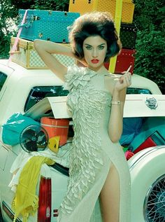 Jacquelyn Jablonski by Miles Aldridge for Vogue Italia (2011)