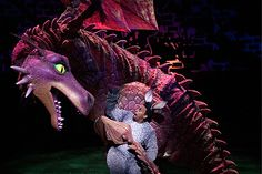 This smaller version of the dragon is I think used on cruise ships. I can't really find another photo of it, so I can't figure out how it works, but I'd guess that there are people in there. It seems more flexible than any of the other dragons, so that's a plus.