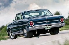 1963 Ford Falcon lowered custom with wide rear tires