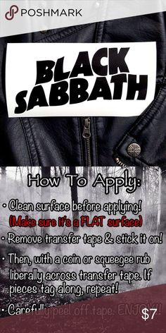 """Black Sabbath🤘🏼Vinyl Decal Sticker •Buy 1 Get 2 FREE Mini Decals🌹