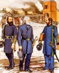 Gen. Robert E Lee with Lt Gen. Hill