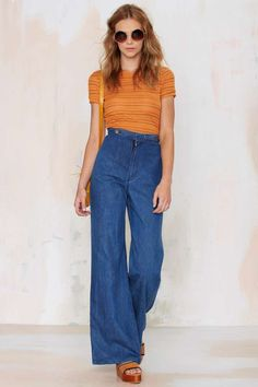 Vintage To Bell and Back Flare Jeans