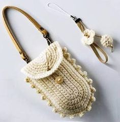 How to Crochet Mobile Cell Phone Pouch for iPhone Samsung - Crochet Ideas Bag Crochet, Crochet Handbags, Crochet Purses, Love Crochet, Crochet Gifts, Crochet Stitches, Crochet Designs, Crochet Patterns, Crochet Phone Cover