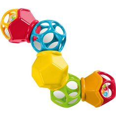 Toysmith Oball Clicky Twister Rattle and Ball Set Baby Learning Toys, Discovery Box, Baby Calm, Developmental Toys, New Parents, Fine Motor Skills, Mom And Baby, Baby Toys, Easy