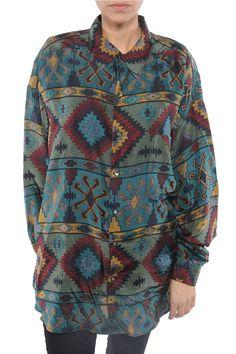 Silk Aztec Blouse | The Vintage Twin