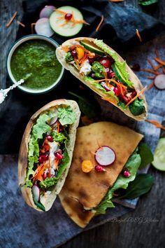Veggie Pita Sandwich - Binjal's VEG Kitchen