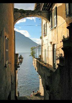 Varenna town. Italia