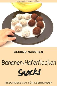 You are looking for healthy snacks for children? The delicious banana oatmeal balls can be coated with coconut flakes or chocolate powder, making it a healthy candy for children. Even babies can taste Healthy Candy, Healthy Cookies, Healthy Snacks For Kids, Healthy Food, Raw Food, Baby Food Recipes, Gourmet Recipes, Snack Recipes, Healthy Recipes