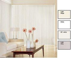 ZNL Solid Vinyl Vertical Blinds (84 in. W x Custom Length) (Off White (84 x 84)), Beige Off-White (PVC)