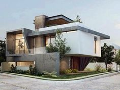Por EBA Architecture (With images) Modern Exterior House Designs, Modern House Facades, Modern House Design, Exterior Design, House Architecture Styles, Residential Architecture, Architecture Design, Bungalow House Design, House Front Design