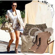 """Celebrity Style: Kim Kardashian...."" by majksister on Polyvore"