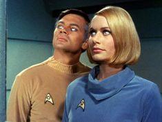 "Lt. Cmdr. Gary Mitchell (Gary Lockwood) and Dr. Elizabeth Dehner (Sally Kellerman) - Star Trek: The Original Series S01E03: ""Where No Man Has Gone Before"" (First Broadcast: September 22, 1966)"
