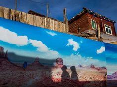 Western Wall  Photograph by Jiang Xi  A mural decorates a wall near a Tibetan Buddhist college in China's Sichuan Province.