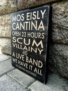 Star Wars Sign Mos Eisley Cantina Star Wars by WoodenItBeNice4