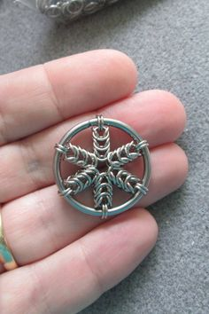Box weave circular #pendant