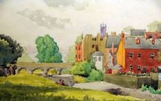 a sweet little painting by Adolf Hitler, who was not allowed to follow his dream.