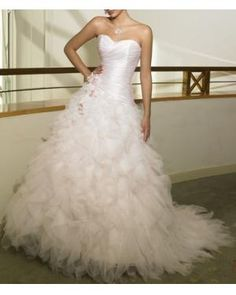 Wedding dress - maybe this dress would look better with colors mixed in on the skirt??