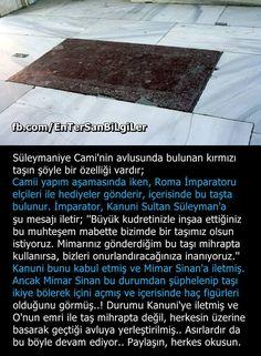 Süleymaniye Camiisi Avlusundaki Kırmızı Taşın Hikayesi! #OsmanlıDevleti