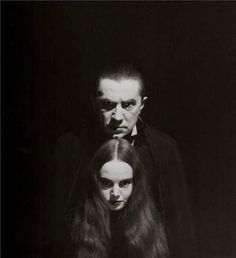 Bella Lugosi and Carroll Borland from - Mark of the Vampire - 1935